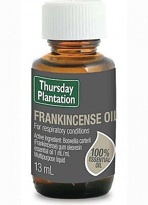 New Thursday Plantation Frankincense Oil 13ml Respiratory Stress Relief