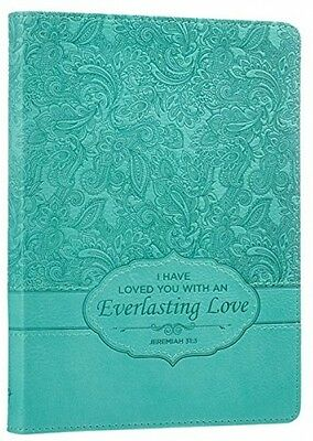 Turquoise Everlasting Love Flexcover Writing Journal Note Book Diary Notebook