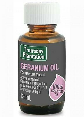 New Thursday Plantation Geranium Oil 13ml balancing oily and congested skin