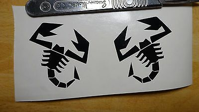 2x Abarth Scorpion Decal ( Abarth Vinyl Car Stickers Cut Racing Any Colour )