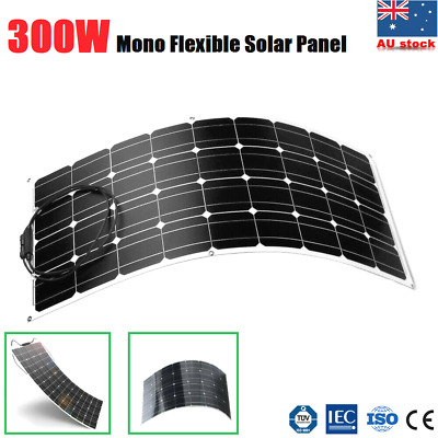 300W 12V Flexible Solar Panel Caravan Boat Camping Power Battery Mono Charging