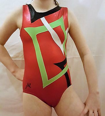 """��Girls,A STAR UK,BODICE LEOTARD��FOIL��SIZE=(10)=27-30""""= guide only 8-10 yrs��"""