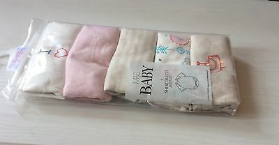 Marks and spencer Baby Bodysuits pack of 5, 3-6 months, short sleeves. New