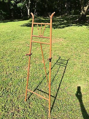 Antique Victorian Era Rod and Ball Bentwood Oak Adjustable Art Display Easel