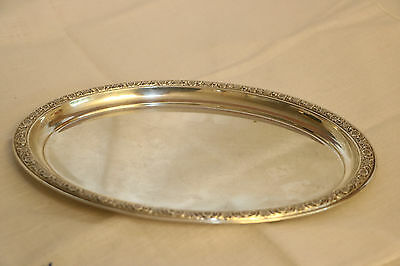 International Sterling Prelude W46 Oval Tray, 8-3/4""