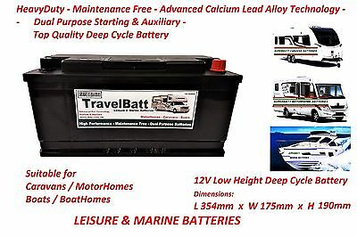 12V 110AH 110 AH TB25MF Deep Cycle Leisure Battery Motorhome Caravan Campervan
