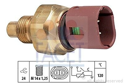 Facet Coolant Temperature Sensor 7.3522 Fits RENAULT CLIO 1.4