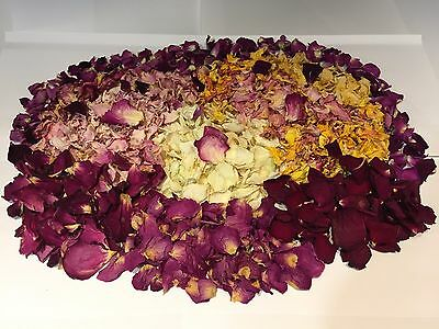 Dried Rose Petals for Wedding Confetti, Celebrations- 12g - 100% Natural