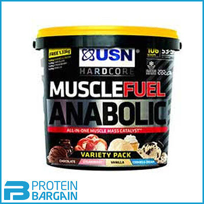 USN Muscle Fuel Anabolic All-In-One Lean Muscle Variety Pack 5.32KG 4 Flavours