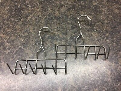 2 Stainless Steel 6 Tine Bacon / Ham Hanging Hooks