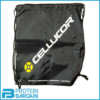 Cellucor Drawstring Bag - Black Gym Bag / Training Gear Sports Bodybuilding Bag
