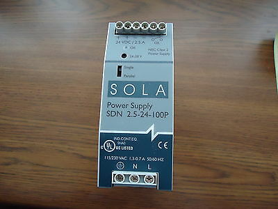 New Sola Power Supply Sdn 2.5-24-100P For Agilent 24 Vdc/2.5A Emerson