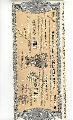 Italy  Bond ?  City Of Napoli    1880  To Large For My Scanner  Pair Diff  Vf-Ef