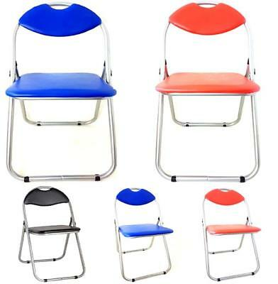 Top Quality Padded Folding Office Chair Spare Chairs For Guest. Red/black/blue