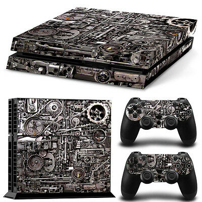 Skin Ps4 Protection Decor Mecanique Steampunk Autocollant Sticker Ps4S025