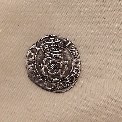 Charles I silver hammered coin halfgroat 1st half groat metal detecting find