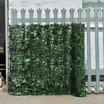 Artificial Ivy 2 Leaf Hedge Privacy Screening Garden Fence Panel Roll, 1.5m x 3m