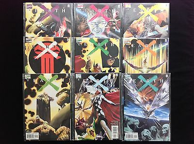 EARTH X Lot of 9 Marvel Comic Books - #2 3 4 5 6 7 9 X 12!