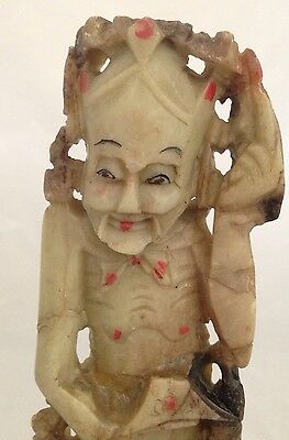 Old Antique Chinese Soapstone Carving  Man Or Woman Fertility Statue Figurine