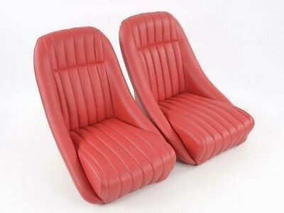 Pair SEATS SPORT Retro' without headrest rossi track slide racing