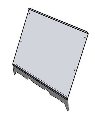2810-PR71 Polaris Ranger fullsize full windshield with stiffener