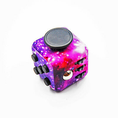 Magic Fidget Cube Camo 6-Side Anxiety Stress Relief EDC Focus Toys Puzzle Purple