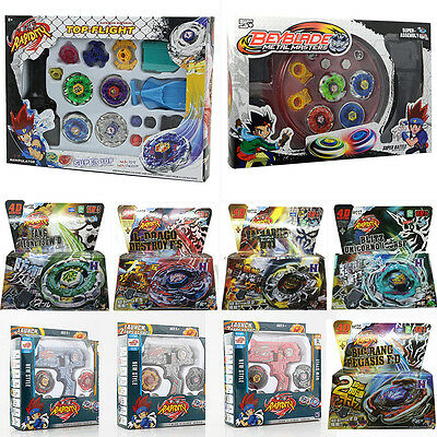 Beyblade 4D Metal Master Fusion Top Rapidity Fight Launcher Grip Set Kids Games
