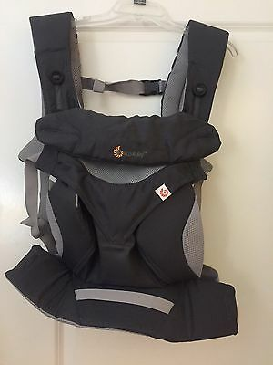 Four Position Cool Air Breathable Infant ergonomic Ergo 360 Baby Carrier Grey Gr
