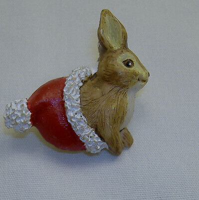 Lot Of 2  Vintage Christmas Bunny Rabbit Lapel Pins- New! Last Chance!!!