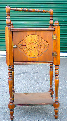 Sewing Cabinet- Wood-Floor Standing- Vintage -Spool Handle