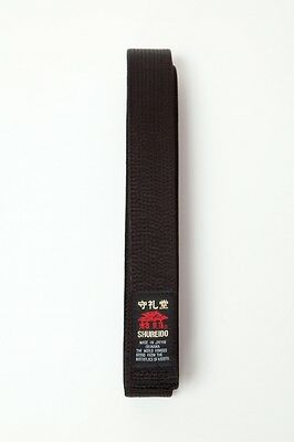 Shureido Black Belt 4.2cm Cotton or Satin - Karate Japanese