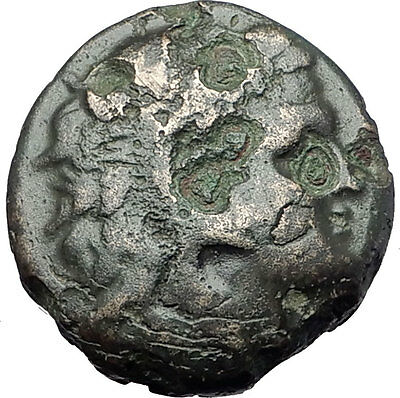 PHILIP V Macedonia King 221BC  RARE R1 Ancient Greek Coin  HERCULES GOATS i61331