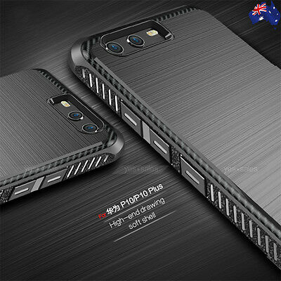 NEW Black Colour Slim Armor Shockproof TPU Case Cover for Huawei P10 / P10 Plus