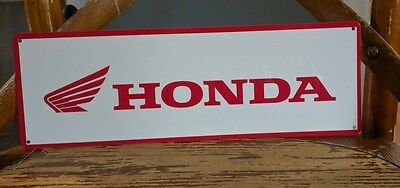 Honda advertising 4 X 12 metal sign vintage mechanics 50013 Wings