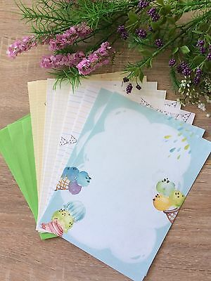 Cute Ice Cream Letter Writing Set/ Note Paper & Envelopes stationary/ diary