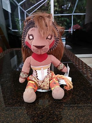 "Walt Disney The Lion King Broadway Musical Simba Plush stuffed animal 12"" Toy"