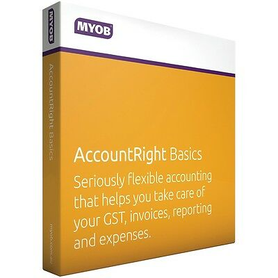 MYOB Account Right Basics Retail Boxed Edition RRP $799 NO SUBSCRIPTION REQUIRED