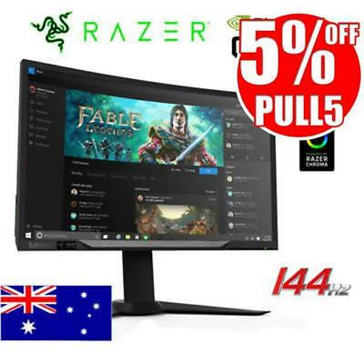 "Lenovo Y27g RE 27"" Curved 144Hz Gaming Monitor Razer Edition G-Sync w/Chroma LED"