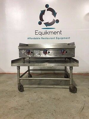 """Star-Max 36"""" Commercial Heavy Duty Gas Countertop Griddle Grill"""