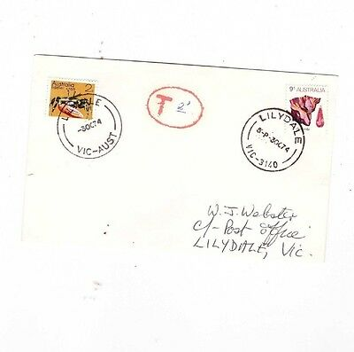 Australia 1974 9c  Mineral TAXED 2c Cover ,cds LILYDALE Vic