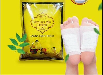 New 30pcs Heath Care Detox Foot Pad Cleasing Patch Made in Thailand Lanna