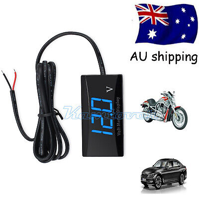 DC 12V Mini Blue LED Digital Display Volt Monitor Voltmeter Voltage Gauge AUS