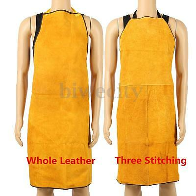 100x70CM Welder Apron Heat Insulation Cow Leather Heavy Duty Welding Protection