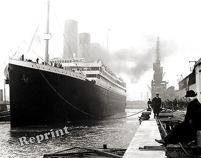 Photograph of the Steamship RMS Titanic 1912 Maiden Voyage England 8x10