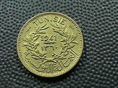TUNISIA  -  FRENCH    50  Centimes    1941   (  1360  )     UNCIRCULATED
