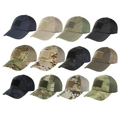 Condor TCM Mesh Tactical Cap w/ Hook & Loop Strap & 3 Panel Baseball Hat
