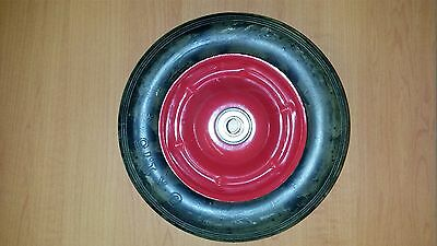 "1X 150mm (6"") black rubber tyre on steel centre wheel 1/2"" brg for trolley toys"