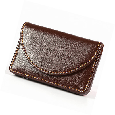 Business Name Card Holder Case Organizer Display Wallet Leather Cover Protection