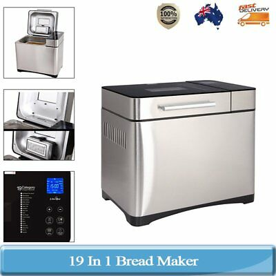 710W Stainless Steel 19 In 1 Bread Maker with Automatic Fruit and Nut Dispenser