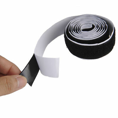 2 Rolls 1M/3ft Self Adhesive Hook Loop Tape Fastener Strong Sticky Black/White